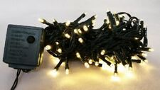 Orman Set Of 100 Warm White Wide Angle Led Mini Christmas Lights With Green Wire