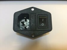 IEC Socket C13 Chassis mount inlet with switch and fuseholder