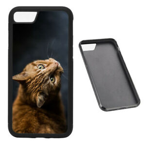 Ginger Cat RUBBER phone case Fits iPhone