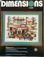 Trading Post Dimensions Charles Wysocki Crewel Needlework Kit #1167