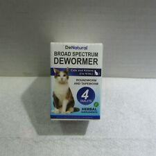 DeNatural Board Spectrum Dewormer Cats Kittens Treats Roundworm/Tapeworm 4 Tabs