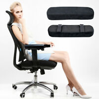 Memory Foam Chair Armrest Cushion Pad Elbow Arm Rest Cover Stress Relief Grace