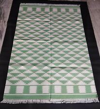 Ikat Cotton Floor Rug Handmade Area Rug Reversible Floor Mat Home Decor Rug,