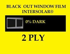 "Blackout Vinyl Window Film 1 ft x 60"" Tint Privacy Home Office Intersolar®"