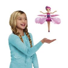 QUIALTY FLYING FLUTTERING FAIRY GIRLS TOY KIDS DOLL PINK WINGS MAGICAL XMAS GIFT