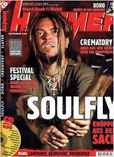 METAL HAMMER September 2000  - Soulfly, Slayer, Metalica - Scorpions (ohne CD)