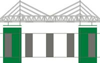 1:32 Scale Suspension Bridge Kit - NINCO/Other similiar Static Layouts
