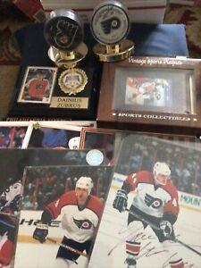 Philadelphia Flyers Mega Collectible Lot - Plaques, Photos & Pucks, Autographs