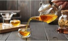 Heat Resistan Glass Teapot With Infuser Coffee Tea Leaf Herbal Pot 250ml ZP
