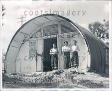 1956 Nissen Hut Serves as Community Health Center Kohima India Press Photo