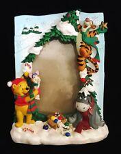 Disney Winnie The Pooh Piglet Tigger Eeyore Christmas Tree Picture Frame