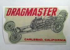 Dragmaster sticker decal hot rod rat rod vintage look drag race