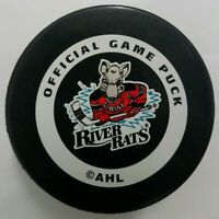 ALBANY RIVER RATS AHL INGLASCO  MADE IN CANADA OFFICIAL GAME PUCK VINTAGE