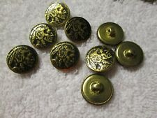 Metal Antique Gold Buttons Round Size 24 New Lot of 72