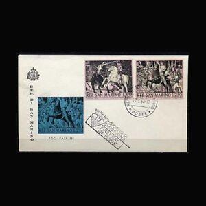 San Marino, FDC, 1968, Battle of San Romano, Horses, COV18, A5FX-C
