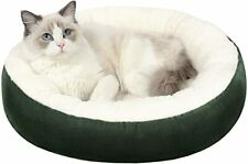 Warming Donut Cushion Cat Bed & Dog Bed, Calming Pup Dog Cat Bed,Non-Slip Bottom