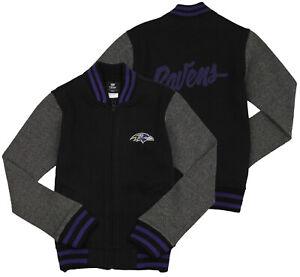 NFL Football Youth Girls Baltimore Ravens Varsity Full Zip Jacket, Black