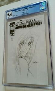 Witchblade #1 CGC 9.4 Black & White Sketch Cover Dynamic Forces Michael Turner
