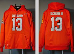 Odell Beckham Jr Cleveland Browns Jersey Hooded Sweatshirt Embroidered Hoodie