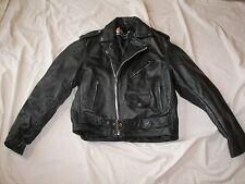 Vintage Xelement Black Leather Motorcycle Jacket - Size 44