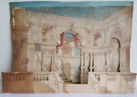 CAPPELLI Maquette DECOR de THEATRE Circa 1875 Aquarelle Signe Stereoscopique Art