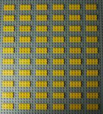 60X Lego Yellow Plates 2x4 Used VGC