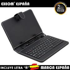 """Funda con Teclado en Español para Tablet Pc 8"""" CoverPAD Negro Marca España"""