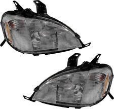 Headlight Assembly w/Bulb Pair Set for 98-01 Mercedes-Benz ML320 ML430 ML55 AMG