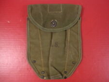 post-WWII US Army M1943 Entrenching Tool Shovel Canvas Cover Carrier Dtd 1950's