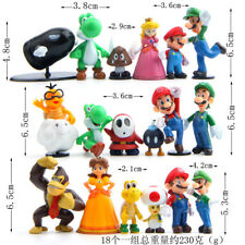 Super Mario Bros DIY Toys Doll PVC Figures Xmas Present Kid Cake Toppers B-10pcs