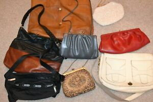 Handbag Lot Wholesale 8 Pieces, Tapestry, clutch, hobo, brighton and more
