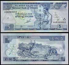 ETIOPIA 5 BIRR (P47a) 1997 UNC