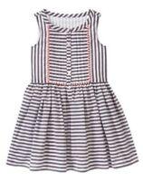 NWT Gymboree Animal Party Grey Striped Coral Trim Dress Size 4 5 6 7 8 10 12