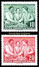 EBS East Germany DDR 1955 International Women's Day Michel 450-451 MNH**