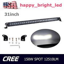 31inch 150W Single Row Slim LED Light Bar Spot 4D Opticals Lamp Boat Truck Ford