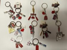 I LOVE LONDON 3 D UNION JACK 12 KEYRINGS  ENGLAND SOUVENIRS KEYCHAIN  KEY RINGS