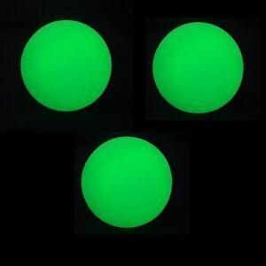 3 x LED Juggling Ball - Green - Pro 70mm Glow Juggling Balls - Incl Batteries
