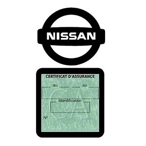 Etui assurance voiture NISSAN logo simple moins 4 Ans Stickers auto rétro