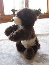 "Vintage Ara Austria Wool Plush Chenille Brown & White Bear 5"""