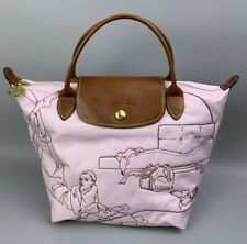 """LONGCHAMP Bag Stitched Tote Handbag Le Pliage Type """"S""""  RARE Made in FRANCE"""