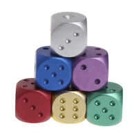 16X16X16mm Dices Aluminum Polyhedral Metal Solid Club Bar Dice Playing Game Tool