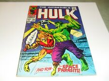 Incredible Hulk #103 F/VF Marvel Key Silver Age 1st  Space Parasite Single Owner