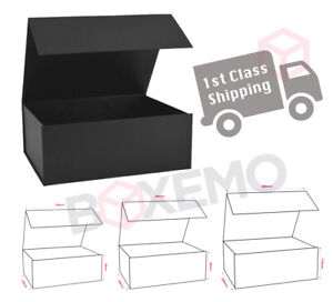 Black Magnetic Gift Boxes Various Sizes For Gifts, Hampers, Birthdays, Presents