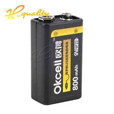 1PCS 9V 800mAh Rechargeable Li-ion Battery USB Charge Multimeter Microphone BSG