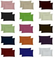 400 THREAD COUNT 100% EGYPTIAN COTTON OXFORD / HOUSEWIFE PILLOW CASES PACK OF 2