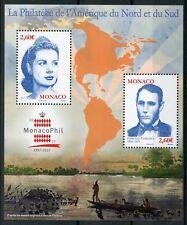 Monaco 2017 MNH MonacoPhil Hercule Florence Grace Kelly 2v M/S Royalty Stamps