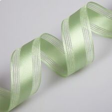 Premium Quality Fern Green Satin Double Sided Wire-Edged 38mm Ribbon - 3 Metres