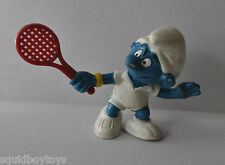 TENNIS SMURF pvc Figure PEYO Schleich 1980s Smurfs