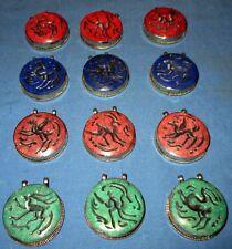 "WHOLESALE LOT03 12 Pendants Animals Afghan Kuchi Tribal Alpaca Silver 2"" Assorte"