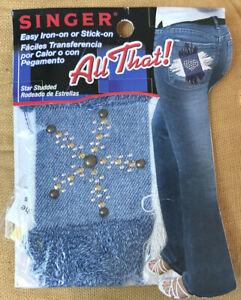Singer Iron-On Accents - All That - Star Studded Iron-On To Jeans, Jackets, NEW.